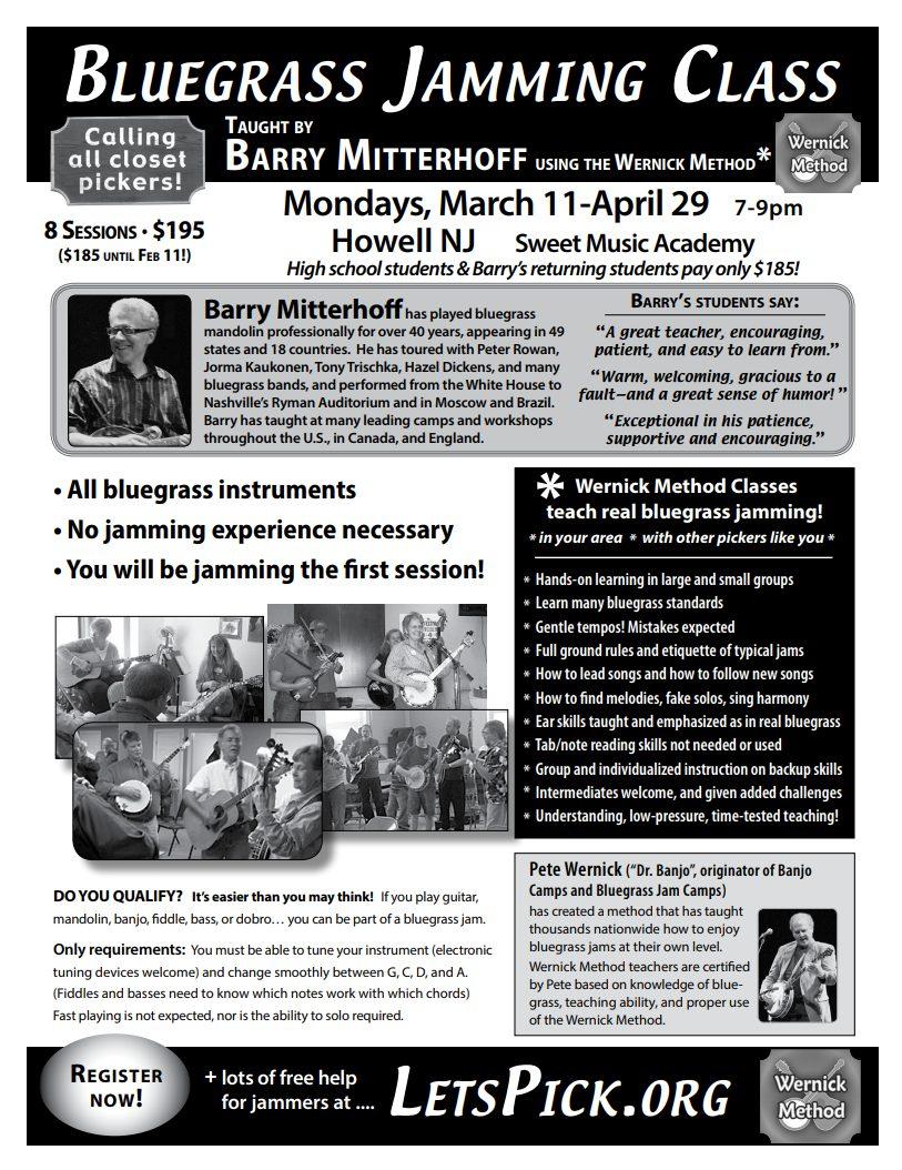 Bluegrass Jamming Class Flyer